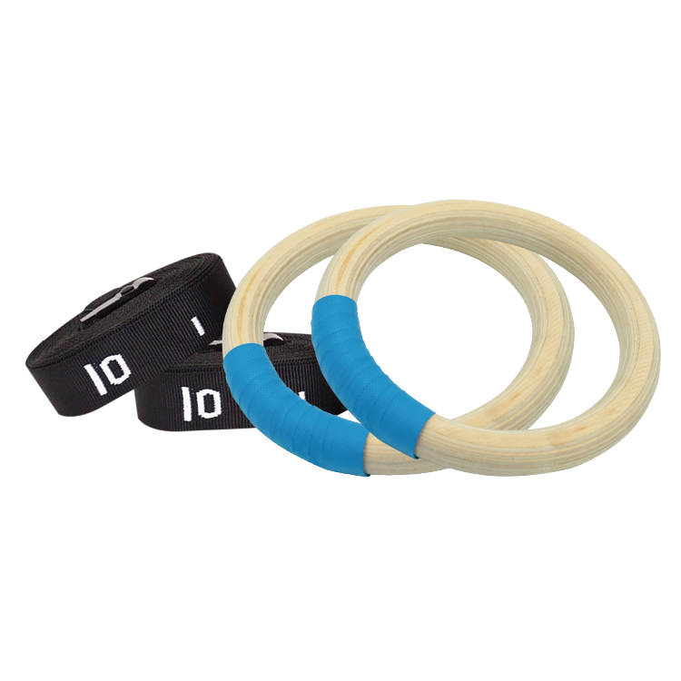 High Quality Wooden GYM Ring With PU Sweatband GMR-W-003 -Vigor