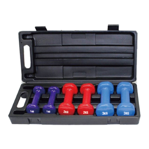 China Wholesale High Quality 6/12KG Dumbbell Set with Box Vigor - DBS-D-005